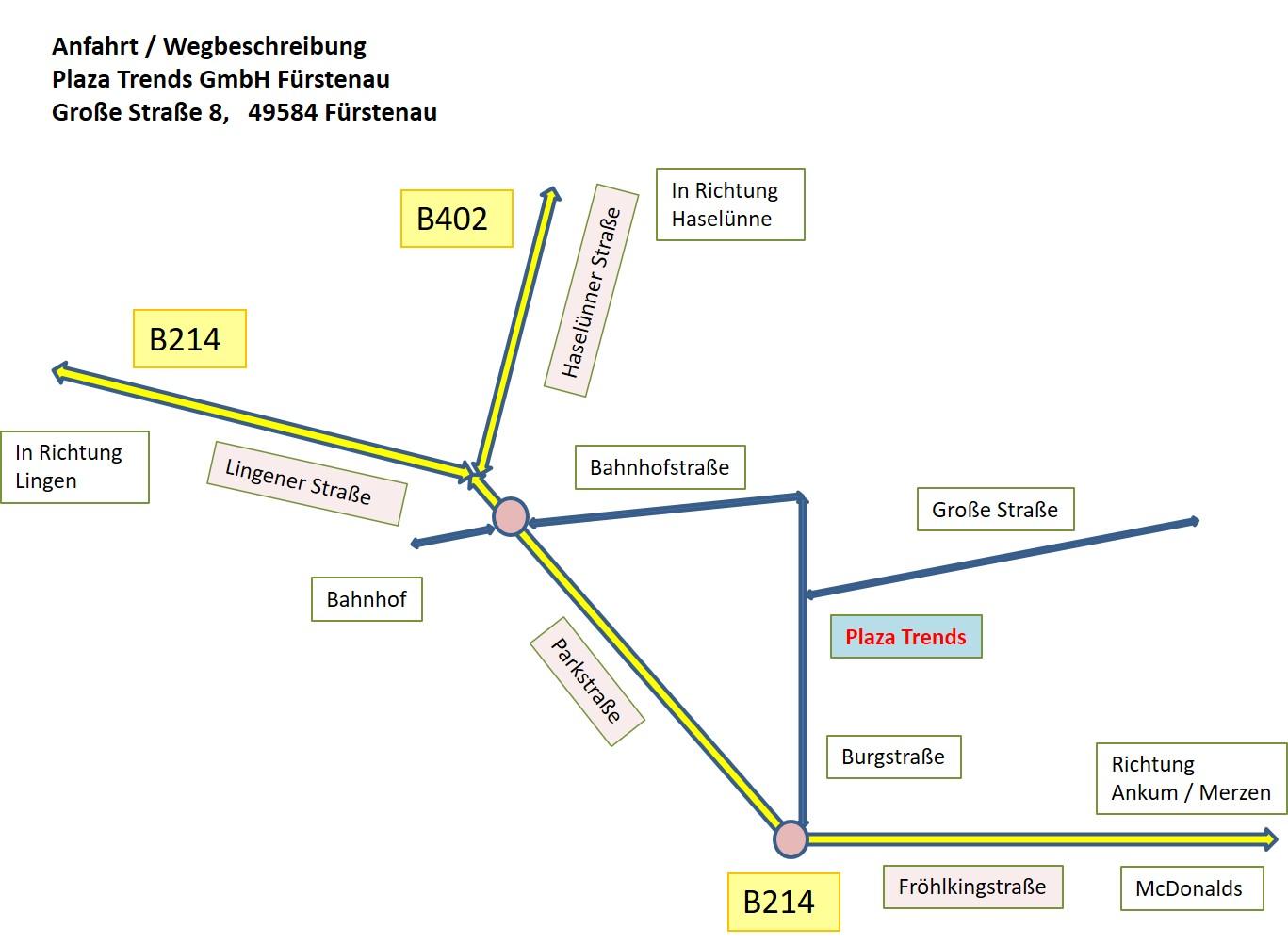 PLAZA Trends - Standort Fürstenau